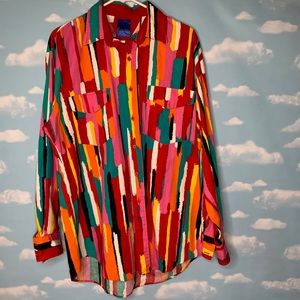Roper- Multicolored Button Up Shirt size Large